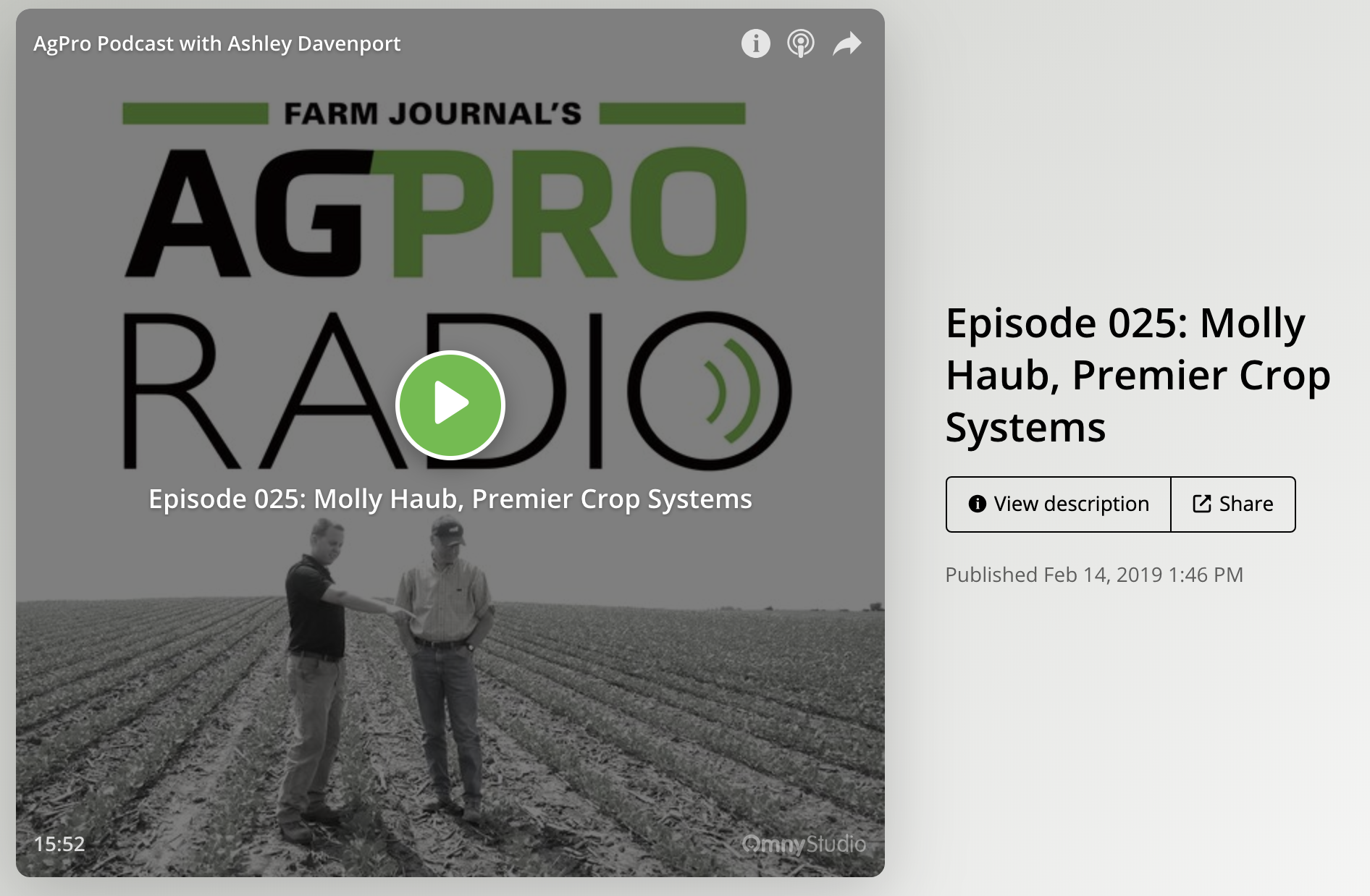 AgProfessional Podcast with Molly Haub