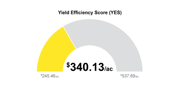 Yield Efficiency by management zone